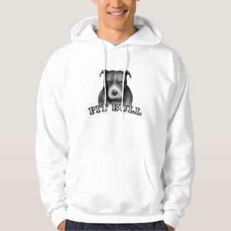 El perro del pitbull crea la camiseta del arte