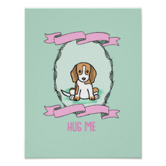 El perro del poster me abraza la decoración casera