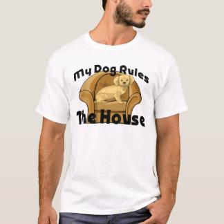 El perro gobierna la camiseta de la casa