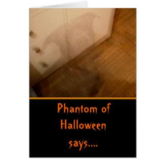 El perro Halloween del fantasma embroma la tarjeta