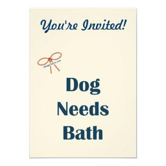 El perro necesita recordatorios del baño anuncio