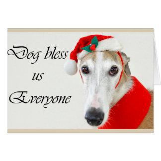 El perro nos bendice tarjeta de Navidad