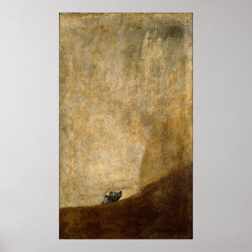 El perro (pinturas negras) por Francisco Goya 1820 Poster