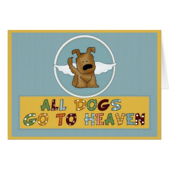 El perro va a la tarjeta de felicitación de la