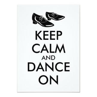 El personalizable de los zapatos del baile guarda invitación 12,7 x 17,8 cm