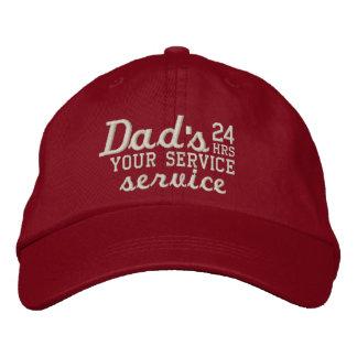 ¡El personalizable del papá 24 horas de servicio Gorras Bordadas