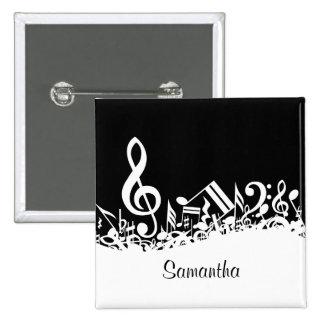 El personalizable embarulló las notas musicales
