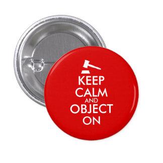 El personalizable guarda el objeto tranquilo del chapa redonda 2,5 cm