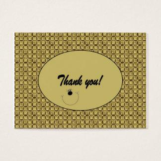 """El personalizable """"le agradece"""" cardar/etiqueta tarjeta de negocios"""