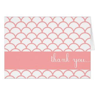 El personalizable rosado del borde de la concha de tarjetas