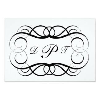 El personalizado con monograma le invita/agradece invitación 8,9 x 12,7 cm