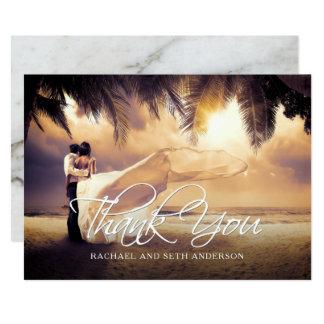 El personalizado de la foto del boda le agradece invitación 12,7 x 17,8 cm