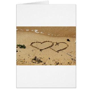 El personalizado del amor de los corazones del tarjeta de felicitación