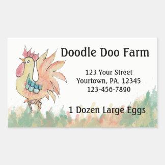 El personalizado del gallo Eggs al pegatina