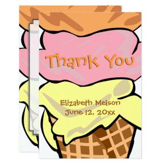 El personalizado del helado del arte pop de la invitación 8,9 x 12,7 cm