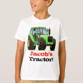 El personalizado embroma el tractor de granja camiseta