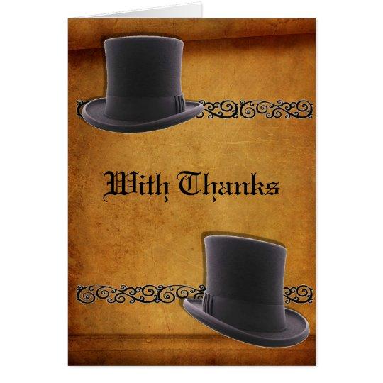 El personalizado gay antiguo del boda le agradece tarjeta pequeña