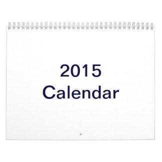 El personalizado imprimió el calendario 2015