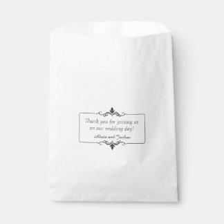El personalizado le agradece boda personalizado bolsa de papel