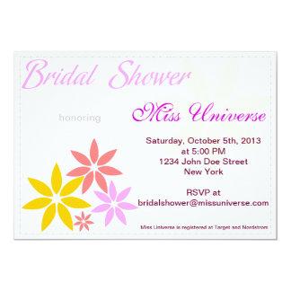 El personalizado nupcial de la ducha de las flores invitación 12,7 x 17,8 cm