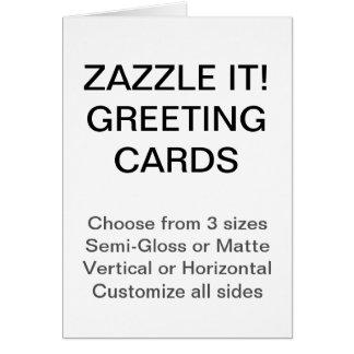 """El personalizado personalizó 4,25"""""""" tarjeta de"""