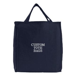 El personalizado personalizó la plantilla bordada bolsa de tela bordada