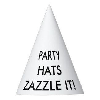 El personalizado personalizó la plantilla del gorro de fiesta