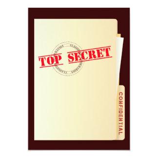 El personalizado secretísimo de la fiesta de invitación 12,7 x 17,8 cm