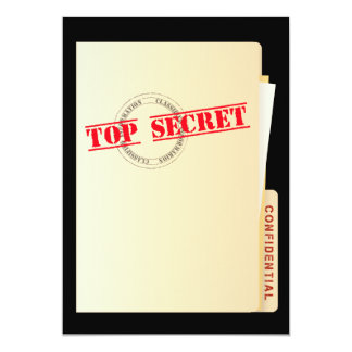 El personalizado secretísimo del fiesta de invitación 12,7 x 17,8 cm