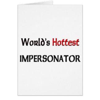 El personificador más caliente de los mundos tarjetón