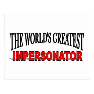 El personificador más grande del mundo postal
