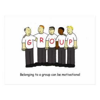 El pertenecer a un grupo es de motivación postal