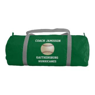 El petate para el coche, béisbol, se pone verde bolsa de deporte
