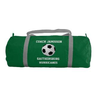 El petate para el coche, fútbol, se pone verde bolsa de deporte