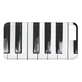 El piano antiguo cierra el teclado funda iPhone 7 plus