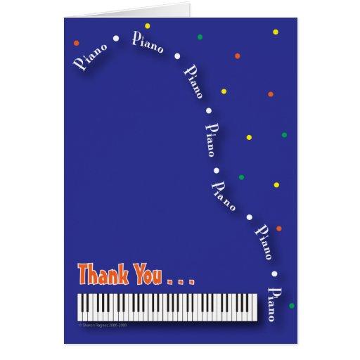El piano azul le agradece cardar felicitaciones