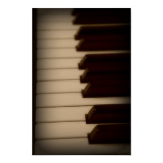 El piano cierra el poster póster