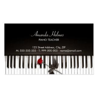 El piano cierra la tarjeta de la industria musical tarjetas de visita
