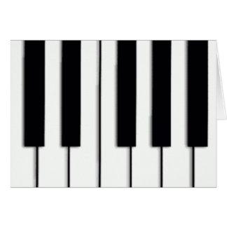 El piano cierra la tarjeta de Navidad
