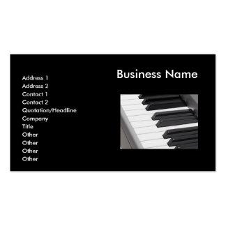El piano cierra la tarjeta de visita del teclado