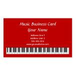 El piano cierra la tarjeta de visita en rojo