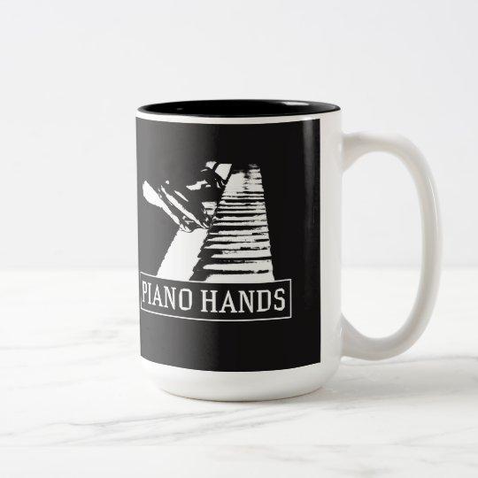 El piano da la taza