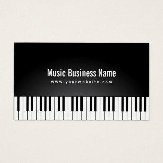 El piano de cola negro elegante de la música tarjeta de visita