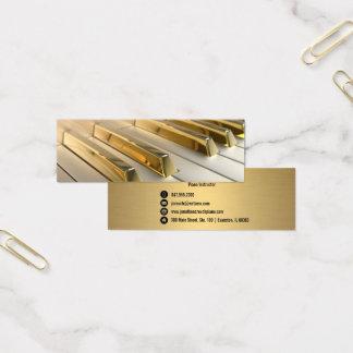 el piano del oro cierra la tarjeta de visita del