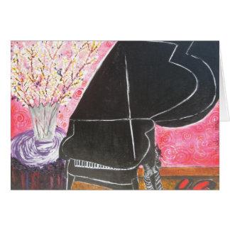 El piano tarjeta de felicitación