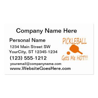 el pickleball me consigue el naranja caliente tarjetas de visita