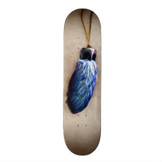 El pie de conejo afortunado azul patin