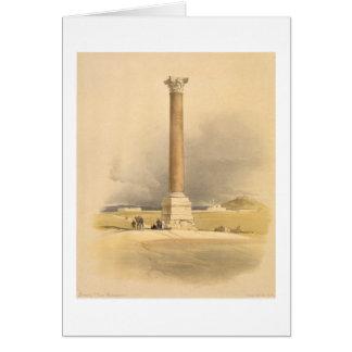 """El pilar de Pompey, Alexandría, de """"Egipto y de Nu Tarjeta De Felicitación"""
