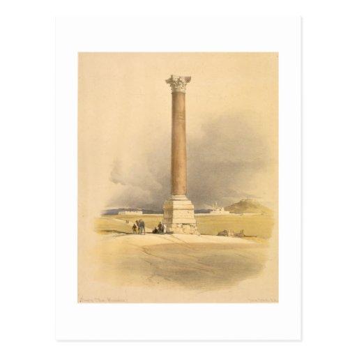 """El pilar de Pompey, Alexandría, de """"Egipto y de Nu Tarjeta Postal"""