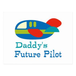 El piloto futuro del papá tarjetas postales